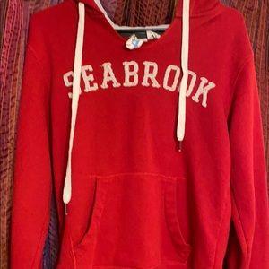 "Red ""Seabrook"" sweatshirt M"